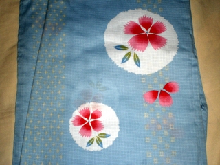 YUKATA set for women, yukata & obi & geta