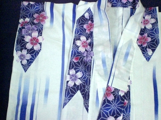 YUKATA, white for woman
