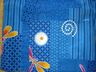 YUKATA set for girl, age 1~2, blue dragonfly