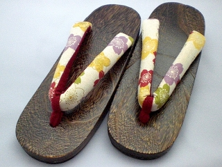 GETA for women, colorfull flowers pattern