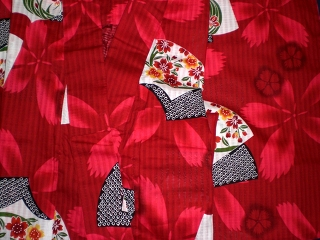 Perfect YUKATA set for woman - OBI, GETA, SENSU, KANZASHI, KINCHAKU