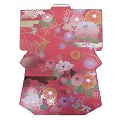 Greeting card, KIMONO shape and pattern