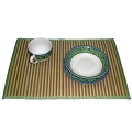 Bamboo lunch mat, green