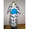 YUKATA and OBI for boys, age 1~2, IGASURI/white