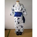 YUKATA set for boys, age 3~4, eagle pattern - white