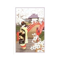 Greeting card, MAIKO girl and bridge
