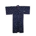 YUKATA for woman, dark blue - egg plant